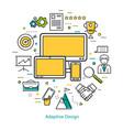 line art concept - adaptive design vector image