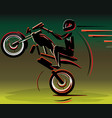 motocross drivers silhouette motorbike motorcycle vector image