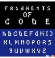 Old computer bitmap pixel font vector image