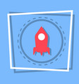 rocket icon stat up web button vector image