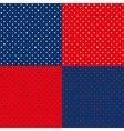 Set Navy Blue Red Star Polka dot vector image