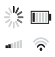Set of connection icons vector image