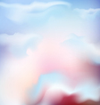 background of the sky with pink clouds vector image