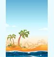 exotic beach landscape vector image vector image