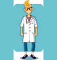 smiling young doctor cartoon vector image vector image