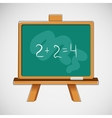 Simple black board with written numbers vector image
