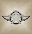 star symbol airforce military concept vector image