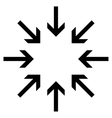 Pressure Arrows Flat Icon vector image