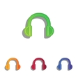Headphones sign Colorfull applique vector image