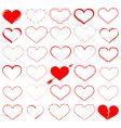 Heart design elements vector image