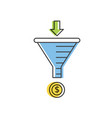 internet marketing strategy concept sale funnel vector image
