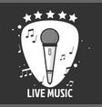 live music emblem vector image