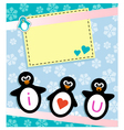 penguin card vector image