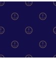Seamless Pattern with Anchor on a Navy Background vector image
