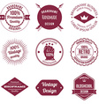 Set of Brand Design Badge and Label vector image