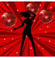 sexy female dancing vector image
