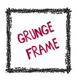 square frame isolated on white background vector image