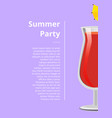 summer party advert poster vector image