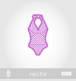 swimsuit outline icon summer vacation vector image