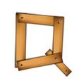wooden type q vector image