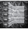 Perspective Set of Numbered headers vector image vector image