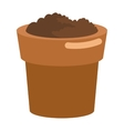 pot with soil icon vector image