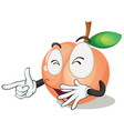 a orange apple vector image vector image