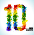 Color paint splashes Gradient Number 10 vector image