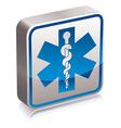 Ambulance medicine symbol vector image