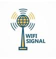 Antenna tower icon or logo vector image