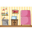 Kitchen room with full furnished vector image vector image