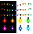 Christmas lights set vector image