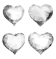 Glass or diamond hearts of triangles vector image vector image