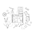 Astronomy and physics science icons vector image vector image