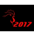 cock 2017 vector image vector image