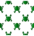 Seamless Cartoon Frog Pattern vector image