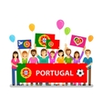 Soccer championship sport icon Fans of Portugal vector image