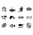 Fish icon or logo set vector image