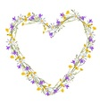 Flowers wild at heart vector image