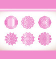 ornamental round lace pink flower vector image