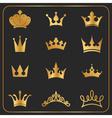 twelve different crowns icon element vector image