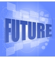 word future on digital screen timeline concept vector image