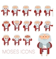 Set of Moses icons vector image