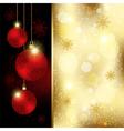 Christmas Crystal Ball Greeting Card vector image vector image