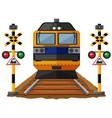 train on the railroad vector image