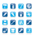 Painting and art object icons vector image