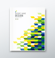 Cover annual report flag of brazil geometric desig vector image