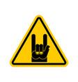 attention rock music warning rock hand symbol vector image