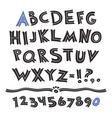 Cartoon Retro Font vector image
