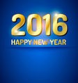 Happy New Year 2016 greetings card vector image